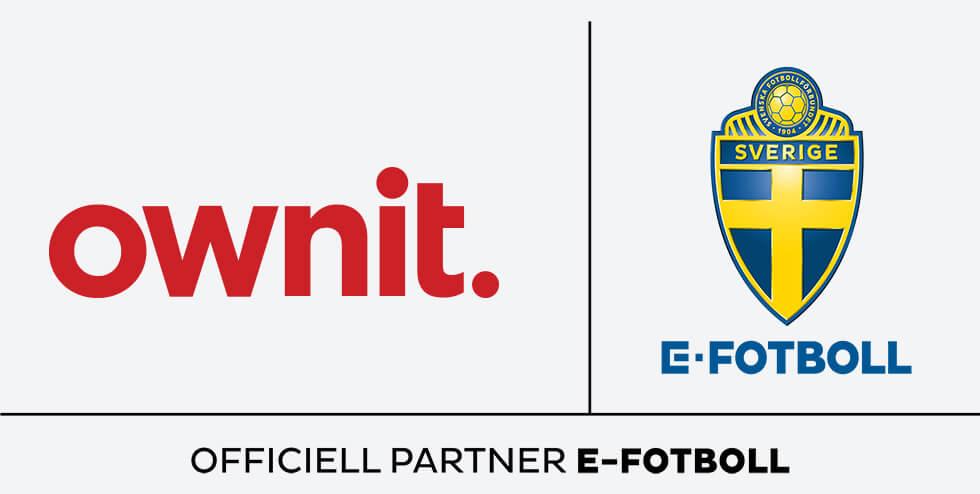 Ownit stolt sponsor av svensk e-fotboll.