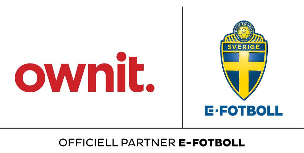 Ownit stolt sponsor av svensk eFotboll.