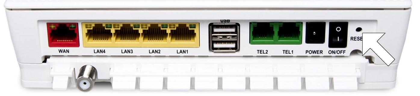 Hur fabriksåterställer jag min router?