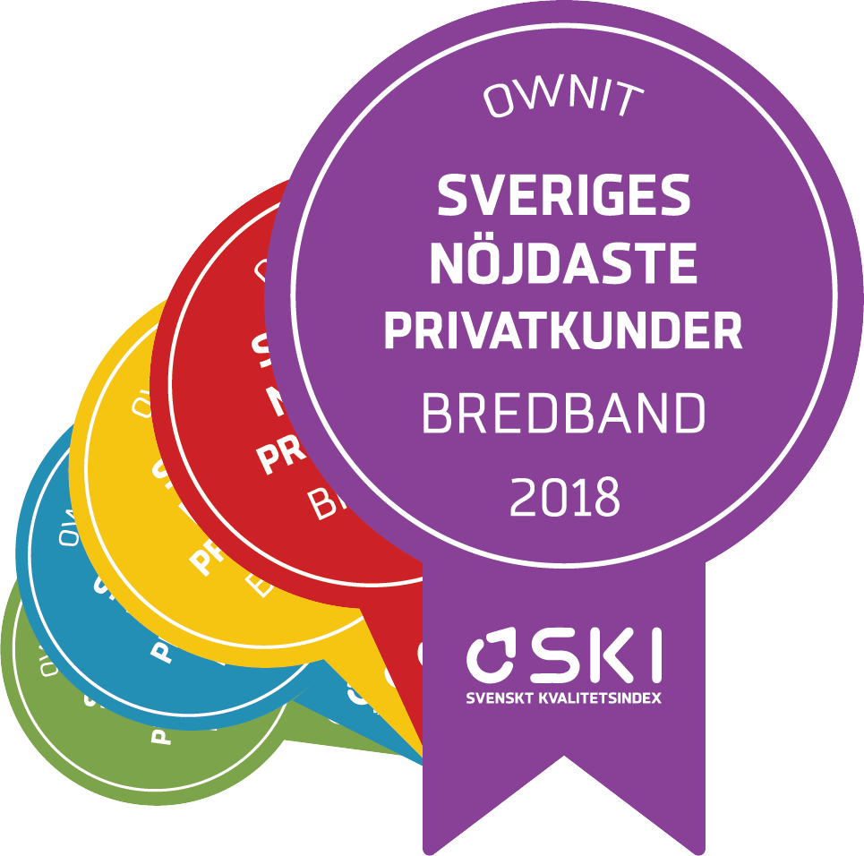 Sveriges nöjdaste bredbandskunder – 5 år i rad.